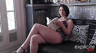 Aroused brunette in erotic lingerie Mylena Johnson could not hold back from cheating on her partner