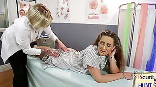 TS doctor cums all over lesbian patient