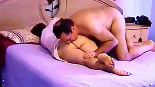 Delightful Indian couple romp moment