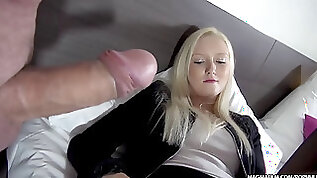 MAGMA FILM big boobed blonde German honey pot and gets her pink cigar by surprise