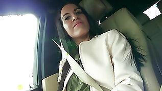 Italian Eveline bangs in the backseat