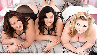 Rare BBW Orgy With Oversized Cuties And A Hung Gentleman