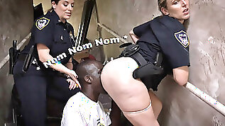 BLACK PATROL Illegal Street Racers Get Busted By White MILF Cops