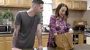 Quickie fucking on the kitchen table with desirable Billy Boston