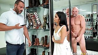 You Must Cum Right Now Watchng Crazy MILF Sex At The Shoe Shop!