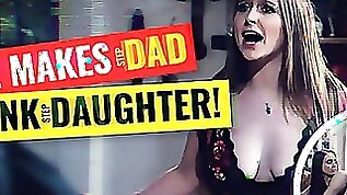 Cop makes Angry Stepdad Spank Fucking CRAZY Outta Control Teen Daughter