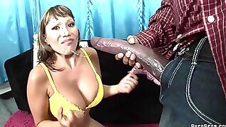 An Interracial Scene With A Monster Cock For The Hot Milf Ava Devine