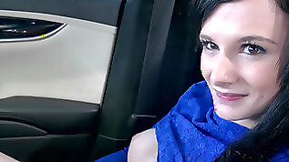 Southern girl Montana Skyy fucks a guy in the car for cash