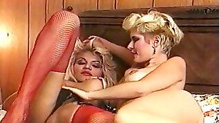 Transsexual Zaza pummels Lois Ayres no condom