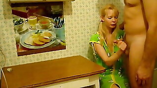 Blonde Wife Fucked At Kitchen Table