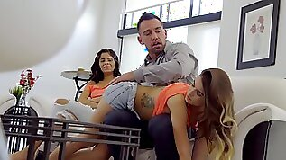 Johnny pounds stepdaughter in front of her best friend