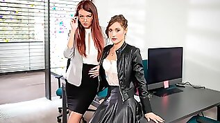 Cindy Shine and Mina Anal Threesome at the Office