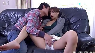 Watch this kinky and horny Asian chick offers her wet twat on this couch
