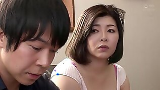 Japanese wife in sexy lingerie Okae Rin fucked in bedroom by her hubby