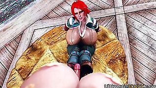 3D huge boobs futanari fucks huge tits blonde babe