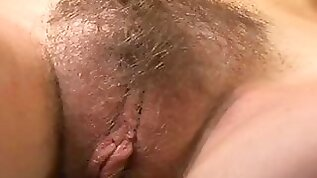 Close up on this hairy cunt fuck slut