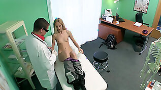 Slim blonde takes docs big schlong