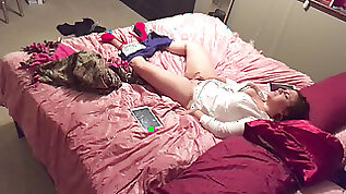 Hidden cam caught roommate watching and jerking in dormitory