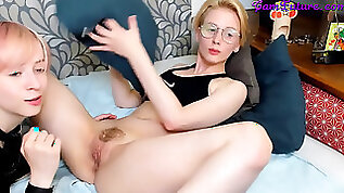 Supreme eating honeypot by two naughty lesbians on webcam