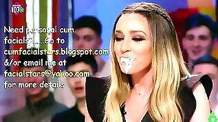 Anna simon mouth full of cum on live tv