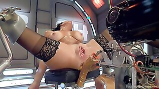 Veronica Avluv knows how to use all sex toys for amazing orgasm