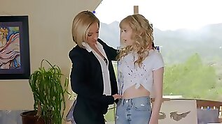 Unconventional lesbian tryst for Jada Stevens and Mackenzie Moss