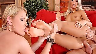 Niki Sand And Sabrina H. Get Their enormous Asses Stuffed In Foot Fetish Threesome