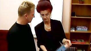 Nice Looking Granny Hooker Fucks Her Customer