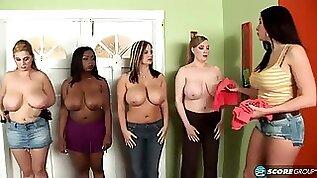 Big boob sorority big natural tits in interracial group sex orgy cumshots