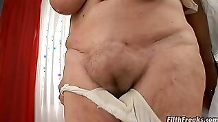 Granny Sara attacked by a horny black doctor for a fuck