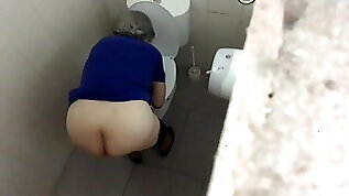 Granny With Great Ass Spied on WC PT