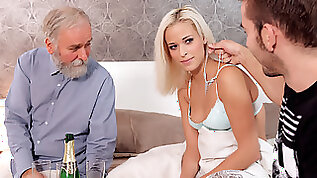 Unexpected sex with a gf of his son