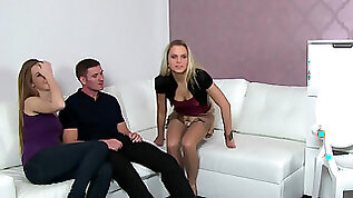 Alexis and her man have sex in front of agent