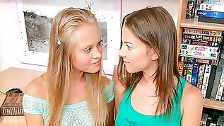 Lusty ladies Nestee Shy and Jenny Lover are enjoying anal games