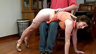 Victoria happy to be spanked by mickael