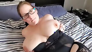 Naughty slut Milf Gets Spoiled For Valentines Day. Sexy Teasing Fucking Sucking. Facial End.