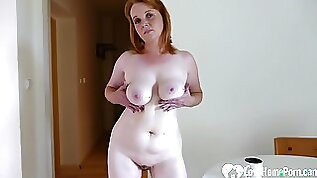 Older redhead chick is here to jack off passionately
