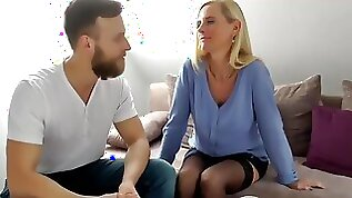 My Best Friends German Mom with Clit Let Me Cum in Her Pussy