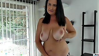Hot chubby MILF with her big natural tits