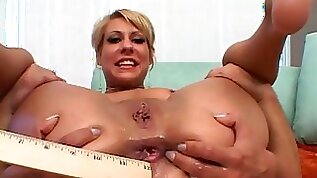 She gives her girlfriend a rim job then lets the guy fuck her ass
