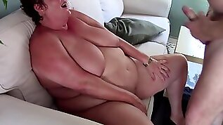 Got Fucked on the Couch with Fat Belly Cumshot