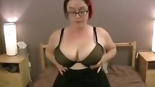 Bbw with glasses and big tits getting fucked in all positions