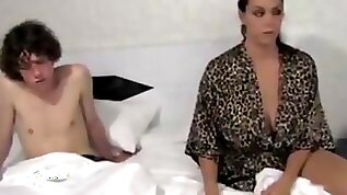 Tabboo sex between mom and son in theater and hotel