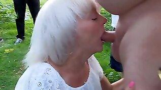 Sexy granny sucks cocks