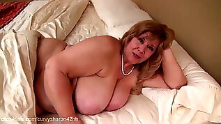 Curvy Sharon Mommie Gives You Your First Blow Job