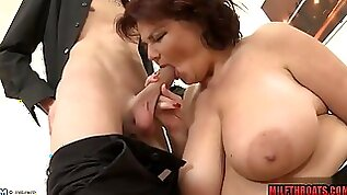 Big breast mother id like to fuck titty hump with jizz on knockers