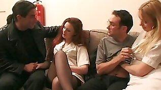 Horny milfs enjoying a group fuck