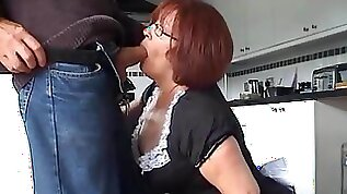 Velmadoo the French maid gagging on cock