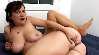 Granny With big Saggy Tits Fucks her Young Dick