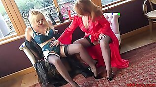 Red XXX and her sexy girlfriend on cam with toys